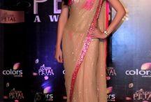 Drashti Dhami Saree at Golden Petal Awards 2013 - Designer Saree   Zakasi.com