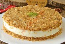 Muhallabili kadayıf pastası,,kadayıf tatlısı fincanla