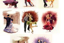 Vyšívání - tanec / Tanec