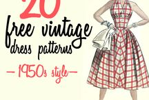 1950 patterns and dresses
