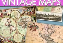 Maps and Art / Maps and Vintage Map Art