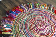 ". . . R U G . . . / Hand made ""piece of art"" rugs for the home, using mainly recycled materials"
