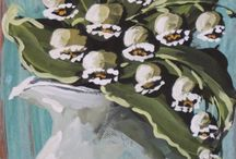 Jennifer Lanne Originals / Bold & bright, or softly faded, her paintings captivate with a lusty, farmhouse chic appeal…