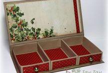 Cardboard dobozkák