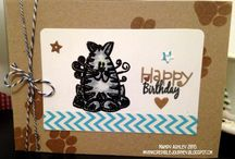 My cards using Hobby Craft stamps