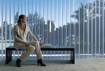 Luminette® Privacy Sheers / A drapery like option great for covering wide windows or sliding glass doors. Stylish sheers and fabric with unlimited light control.