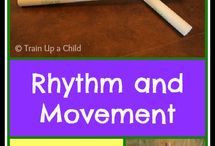Rhythm sticks and songs
