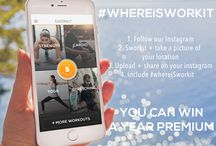 Sworkit   #WHEREiSWORKIT / Tag your photos with #WhereiSworkit so everyone can see where Sworkit is being used!