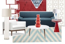 Red blue interiors / home_decor