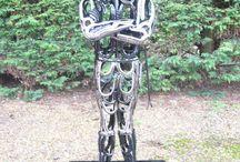 Metal Sculptor Art Work. Auspiciousness / Metal Sculptor Art Work. auspiciousness  artwork sculpture illustration  welding  ironsculpture