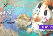 NSI Mermaid Collection / Our new Mermaid Collection is now available! A wide range of bright and fun colors to glam out your nails this summer! Our new Mermaid Collection includes a range of 6 new Polish Pro gel polish shades, 6 new Secrets Removable color Gels, 4 Secrets Shade Colored Acrylic Powders, 3 Secrets Sparkle Glitter & Effects Acrylic Powder as well as one extra new Secrets Design Art Gel!