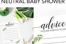 Baby Shower   Neutral Woodland