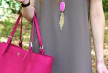 Pink bag outfits