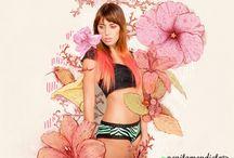 """Blooming Flowers"" Campaign / Fotografía: pinkflamingo  Ilustración: Maria Carolina Ramirez Alvarez ""La Sukita"" http://www.flickr.com/photos/lacarito/ Dirección creativa: Natalia González Hair & MakeUp: Andrea Takagi Modelo: Eleonora Wills"
