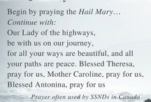 Travel Prayers / Prayers for reflection as you travel.
