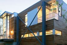 Industrial Homes: expressing the structure within using raw building materials