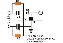 trafosuz capasitiv power supply
