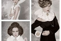 Ball Hairdresses Award 2014 / Esposito Mario has been nominated for the ball of the hairdresses award. In the text below you can find a few beautiful samples of Espoisto's coiffure.  The hair models are completely styled in GHIMELLS Haute Couture dresses.