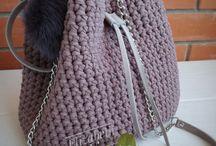 Вязаные сумки / из трикотажной пряжи