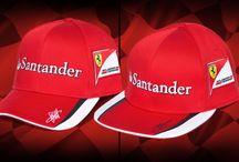 Vettel and Raikkonen official Scuderia Ferrari Replica Caps / Now available on Ferrari Store: http://goo.gl/KqVpXN / by Ferrari Store