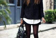 Looks otoño-invierno mujer blanco y negro