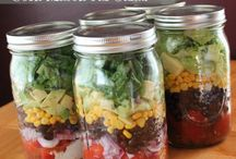 Mason Jar office lunches
