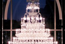 Light and chandelier