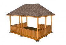 Gazebo Designs / Detailed plans and designs for outdoor gazebos. A collection of beautiful gazebos, starting with basic constructions up to complex ones.