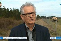 plus grand champ photovoltaique d'Europe dans le Sud de la France en Aquitaine
