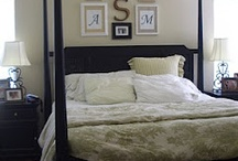 Bedroom Wall Inspirations / Looky looing for just the 'right, not-too-heavy' art/decor on the wall above the headboard. / by Denise Pulley