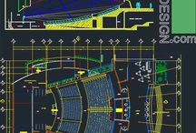 Auditorium architecture design / architecture design of: amphitheaterstar, assembly hall,barn,concert hall,hall,movie house,music hall,opera house,theater,playhouse, reception hall: AutoCad DWG files AutoCad architectural drawings for auditorium projects + Acoustic and visual analysis of  auditoriums. Included in the package are: auditorium building layouts in plan and elevation view (floor-plans, elevations, and sections), auditorium furniture and equipment,  standard and steep angle dimensions for seat rows and acoustics.