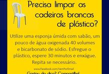 limpar cadeiras plásticas