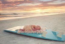 Newborns Meet the Beach / Newborn shoots on the beach. www.memoryportraitsbygigi.com  photographer: Gigi Odea