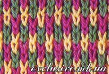 Viacfarebné pletené vzory