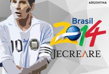 World Cup 2014 Brazil / Celebrating world's greatest event with JECREARE... Your partner in Branding, design and events