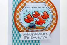 Cards_School/Kid / Kid theme cards made using Whimsie Doodles digital stamps