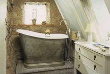 tablas de planchar y bañeras antiguas