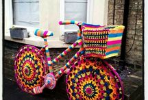 Yarn Bombed Bicycles / Grateful to come across this unique fad. We are Chicago Bicycle Company http://www.chicagobicyclecompany.com
