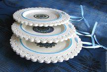 декоративные тарелки из газет
