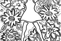 Coloring Pages to design with StencilGirl stencils