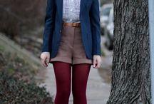 Burgundy thighs
