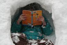 Lezen in de winter / winter reading