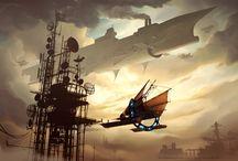 Steampunk town/city / by Josiah Robinson