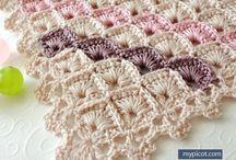 Crochet stitches shawl