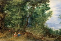 painting forest / trees, wood and nature from art history