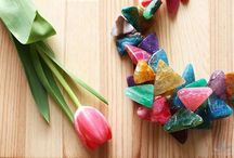 Wiosenne Kamienie Naturalne / Spring natural stones / Fantastyczne, żywe kolory, piękne kształty, idealne dodatki na wiosenne dni /  Fantastic, vibrant colors, beautiful shapes, perfect for spring