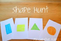 Shapes / Fun activities for preschoolers and toddlers to learn shapes. / by Jamie Reimer