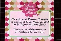 Invitaciones de primera comunión para niña