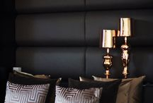 Metallic shades  / Metallic colors are beautiful in Interior design. Maison Malou loves them and often  styles them with brown, grey, purple and dust colors