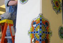 mosaicos pared